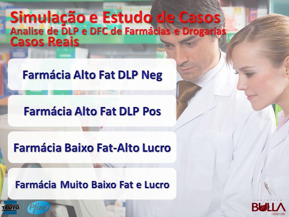 Simulação e Estudo de Casos Analise de DLP e DFC de Farmácias e Drogarias Casos Reais