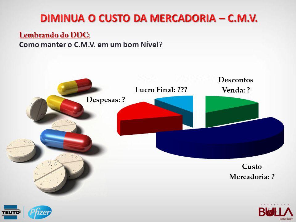 DIMINUA O CUSTO DA MERCADORIA – C.M.V.