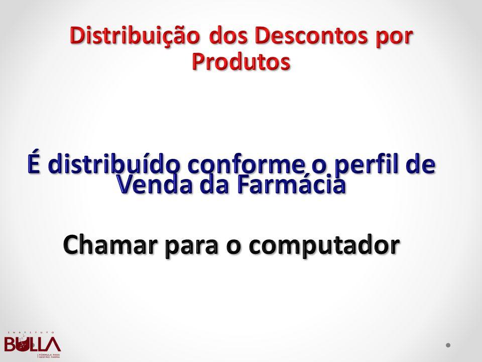 É distribuído conforme o perfil de Venda da Farmácia