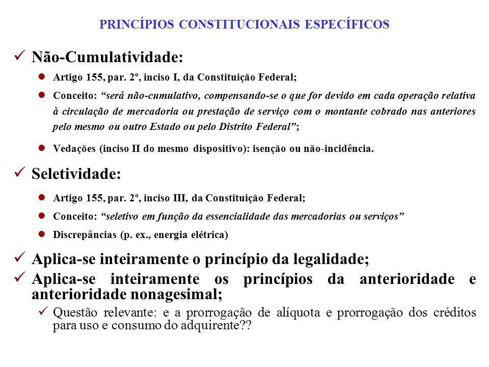 PRINCÍPIOS CONSTITUCIONAIS ESPECÍFICOS