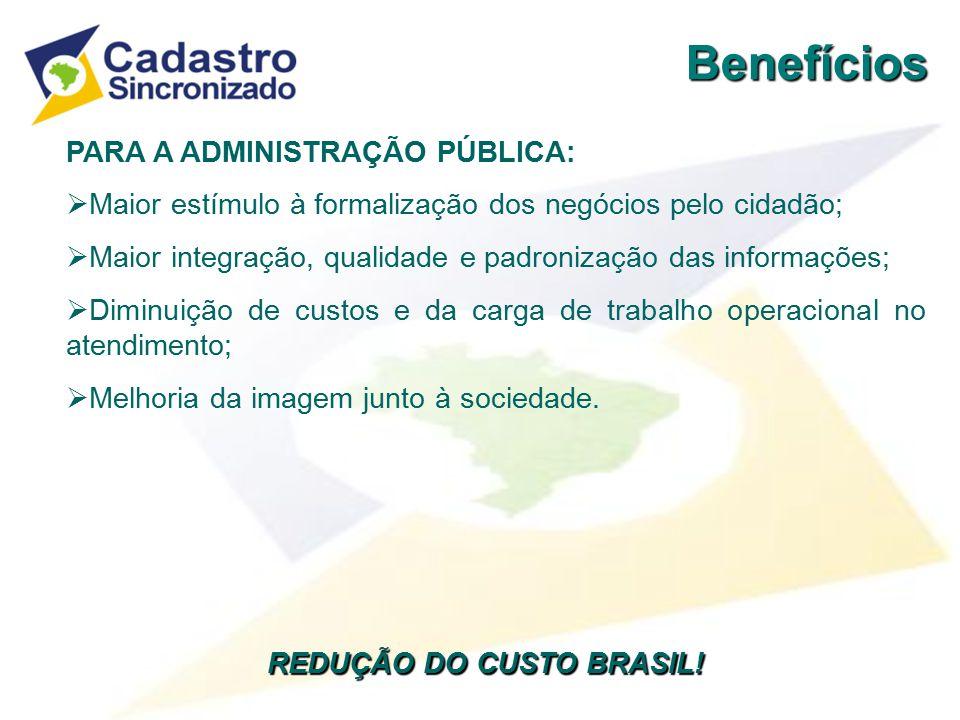 REDUÇÃO DO CUSTO BRASIL!