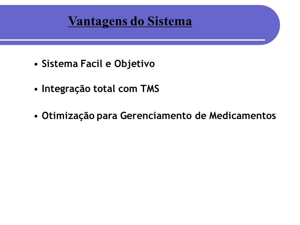 Vantagens do Sistema Sistema Facil e Objetivo Integração total com TMS