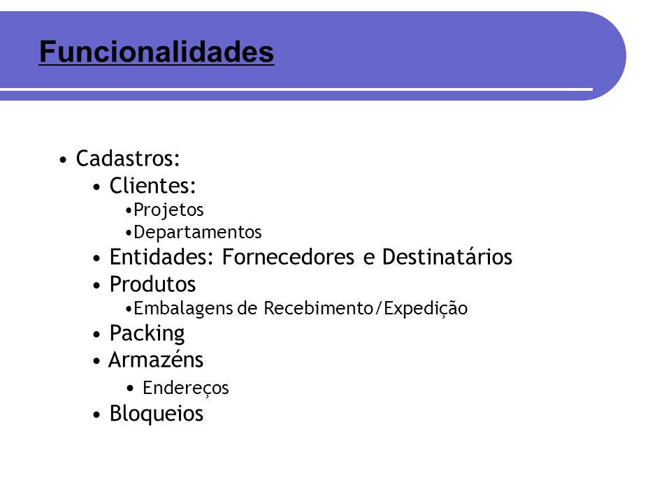 Funcionalidades Cadastros: Clientes:
