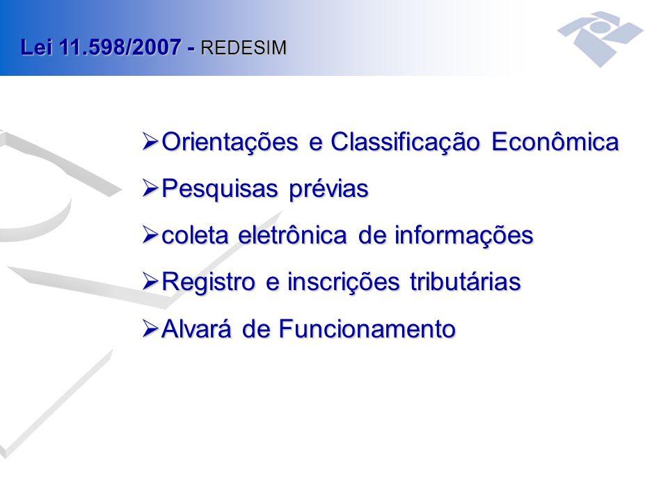 Orientações e Classificação Econômica Pesquisas prévias