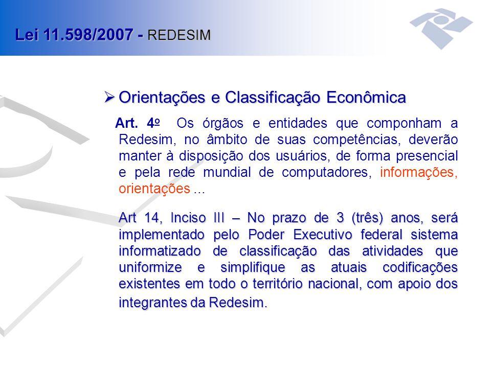 Orientações e Classificação Econômica