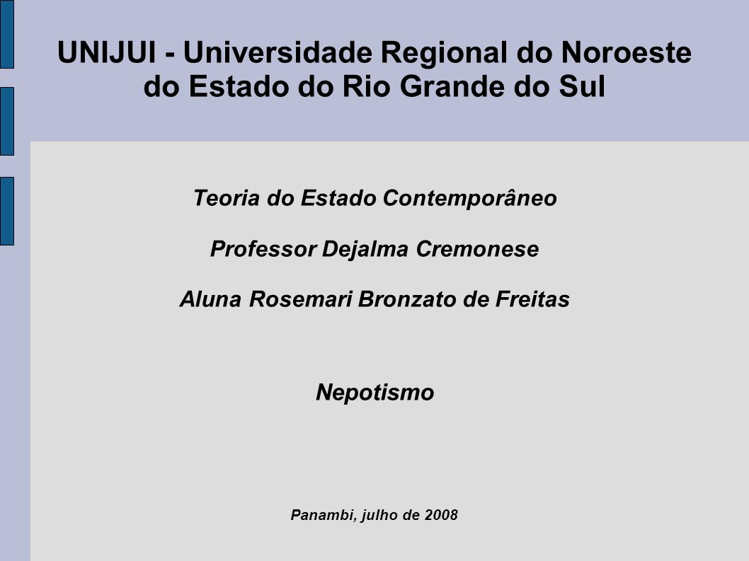 UNIJUI - Universidade Regional do Noroeste do Estado do Rio Grande do Sul