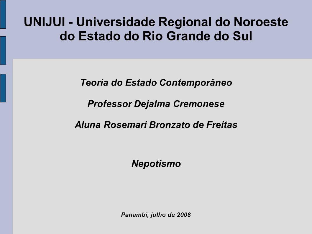 UNIJUI - Universidade Regional do Noroeste do Estado do Rio Grande do Sul