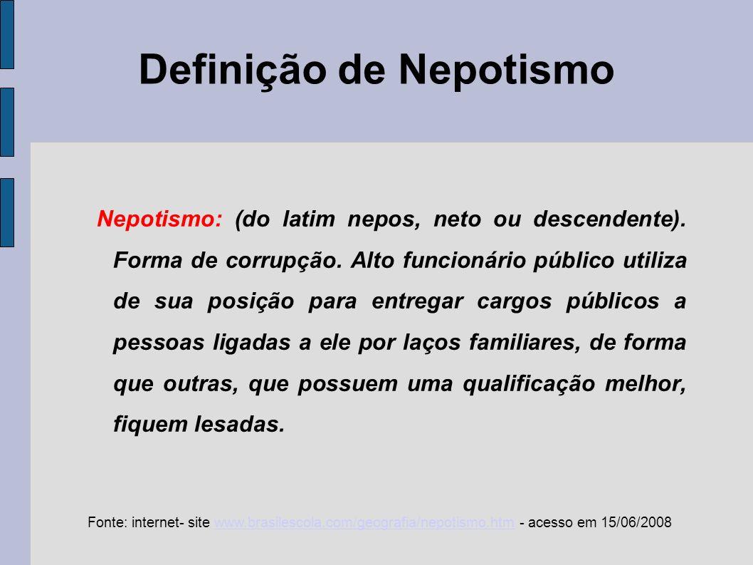 Definição de Nepotismo