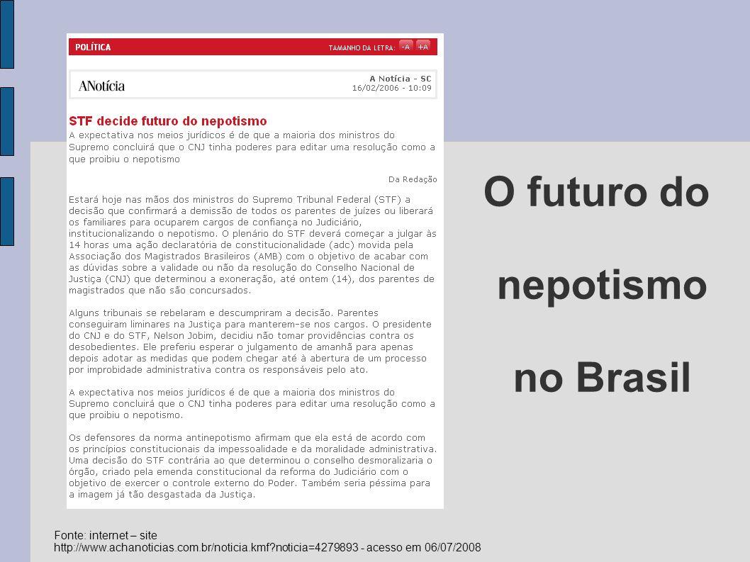 O futuro do nepotismo no Brasil