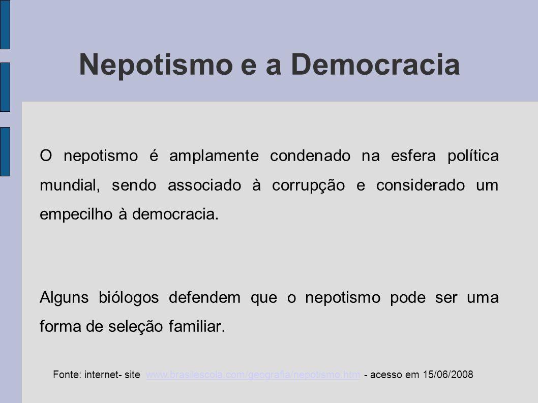 Nepotismo e a Democracia