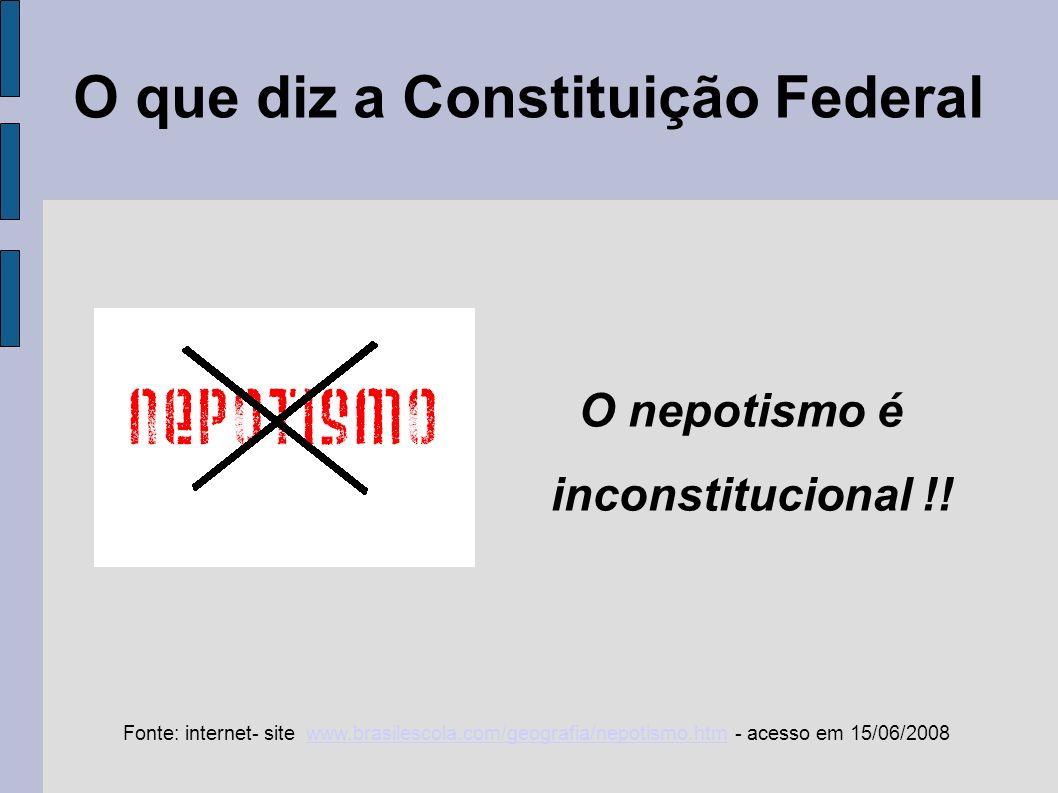 O que diz a Constituição Federal