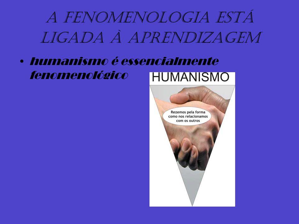 A fenomenologia está ligada à aprendizagem