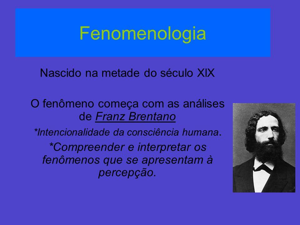 Fenomenologia Nascido na metade do século XlX