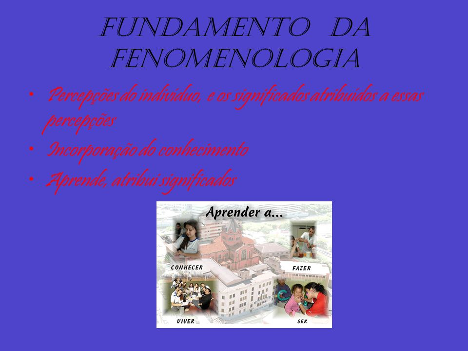 Fundamento da fenomenologia