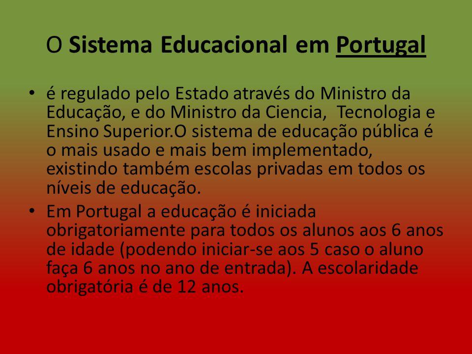 O Sistema Educacional em Portugal