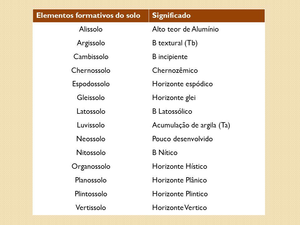 Elementos formativos do solo