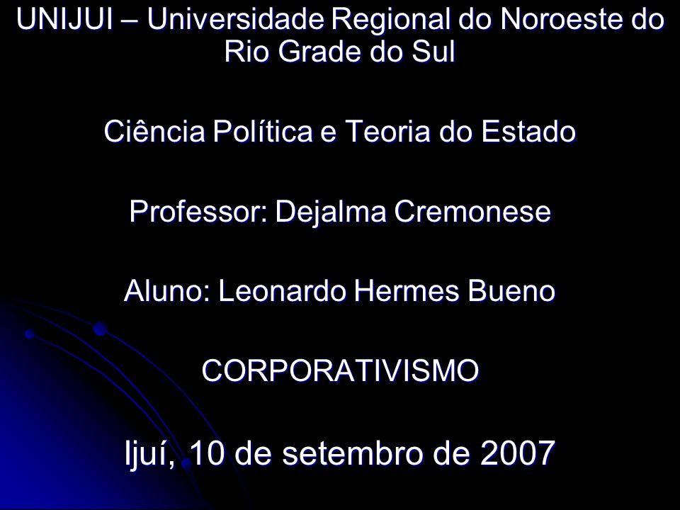 UNIJUI – Universidade Regional do Noroeste do Rio Grade do Sul