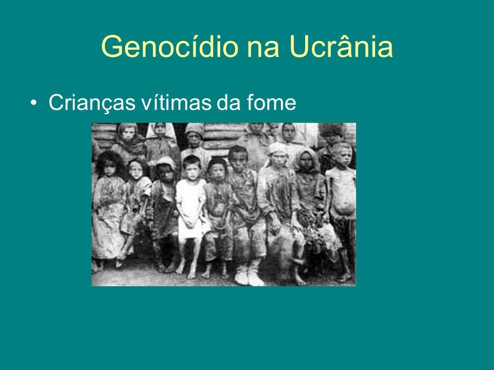 Genocídio na Ucrânia Crianças vítimas da fome