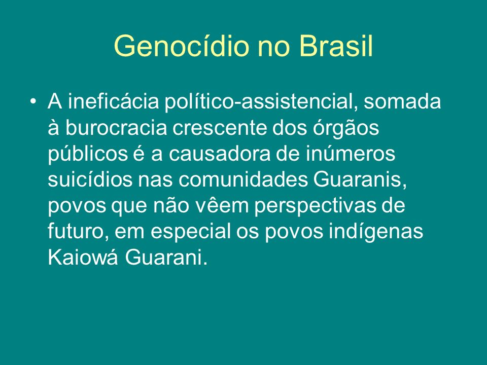 Genocídio no Brasil
