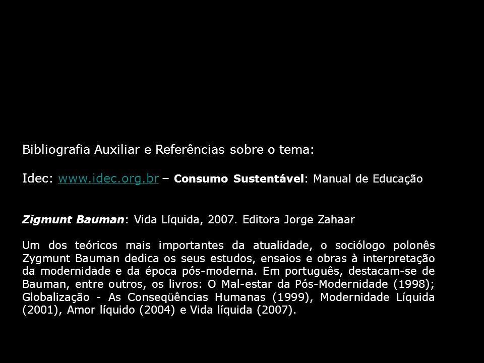 Bibliografia Auxiliar e Referências sobre o tema: