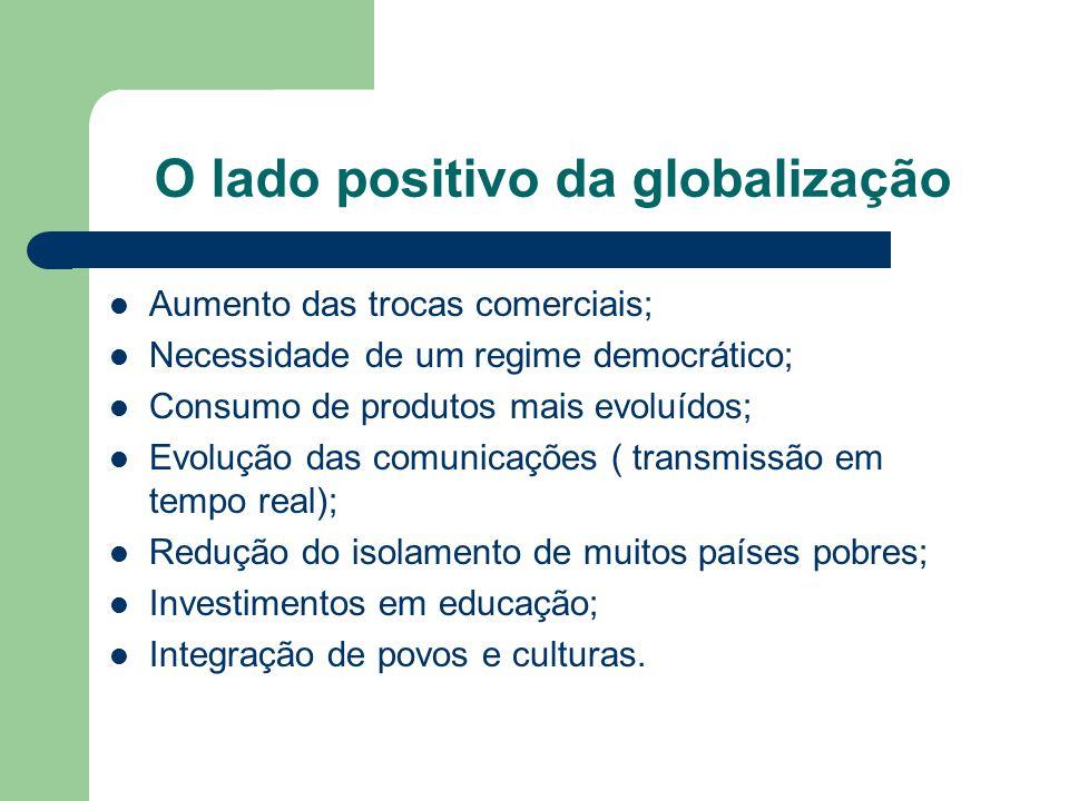 O lado positivo da globalização