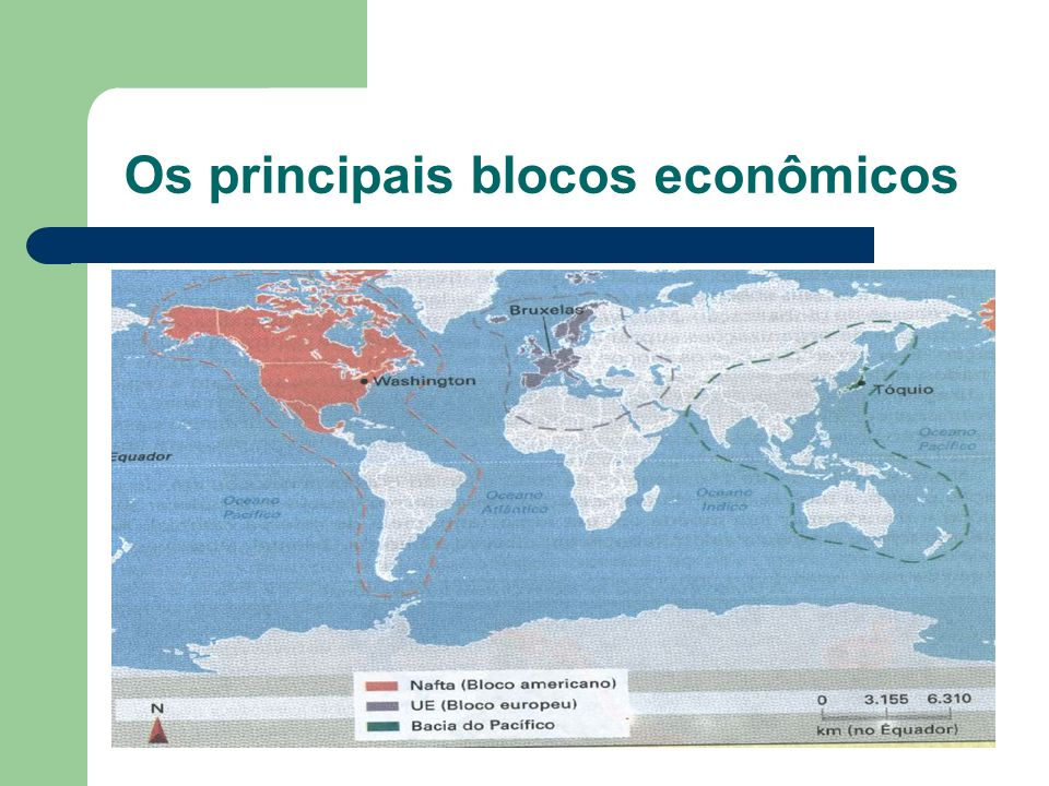 Os principais blocos econômicos