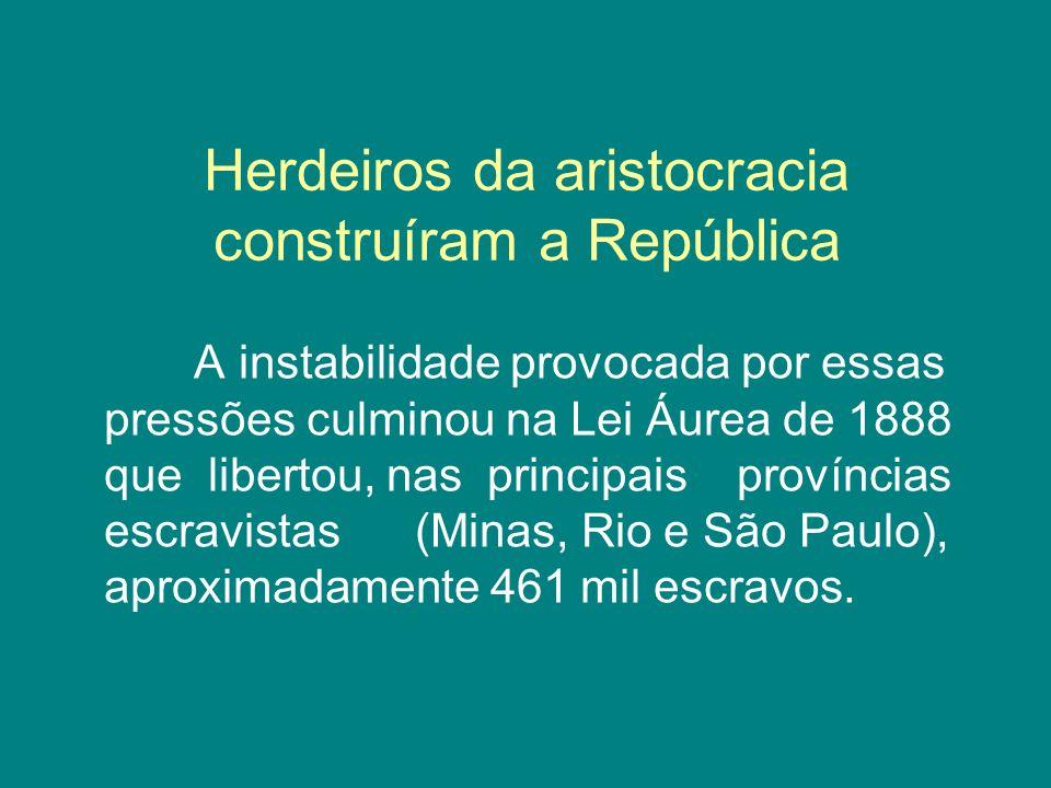 Herdeiros da aristocracia construíram a República