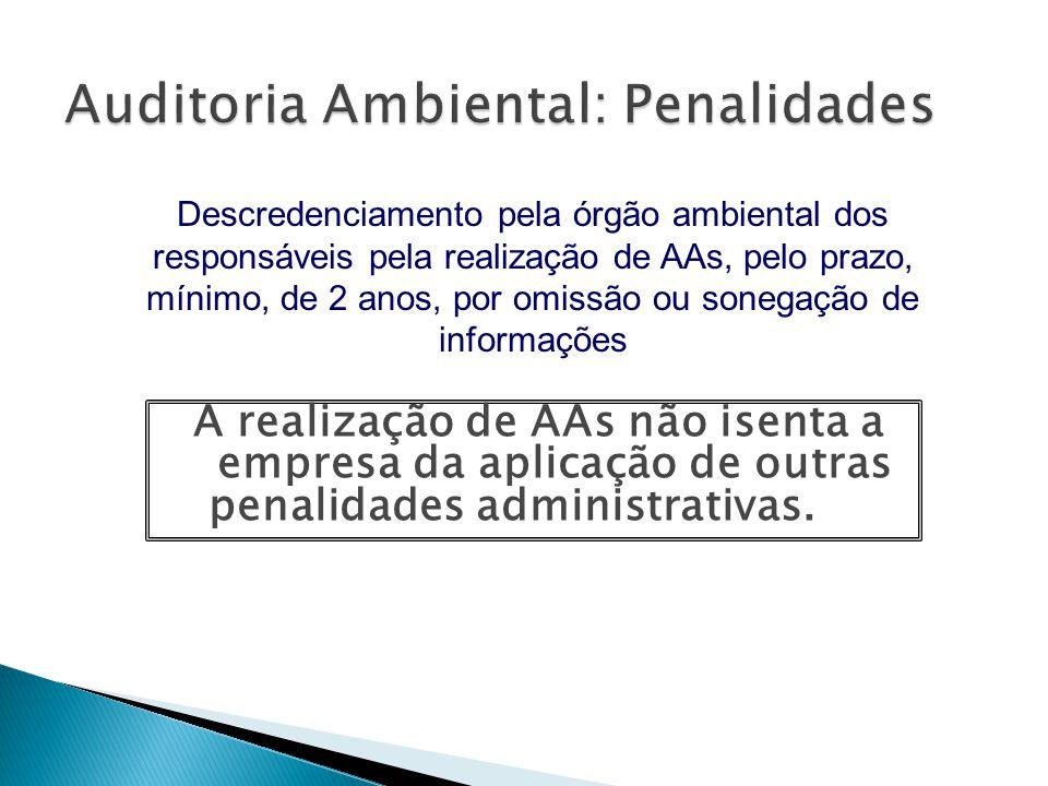 Auditoria Ambiental: Penalidades