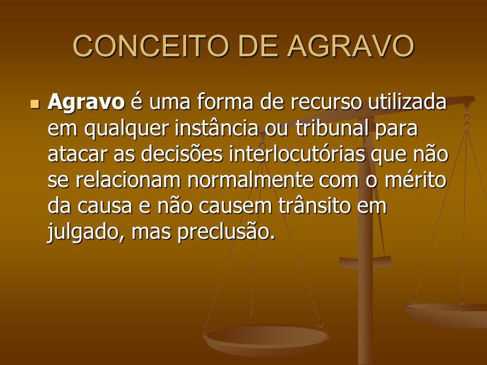 CONCEITO DE AGRAVO