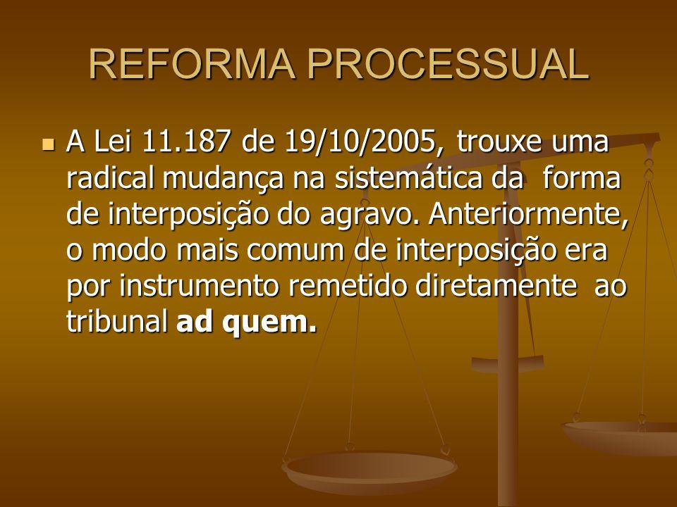 REFORMA PROCESSUAL