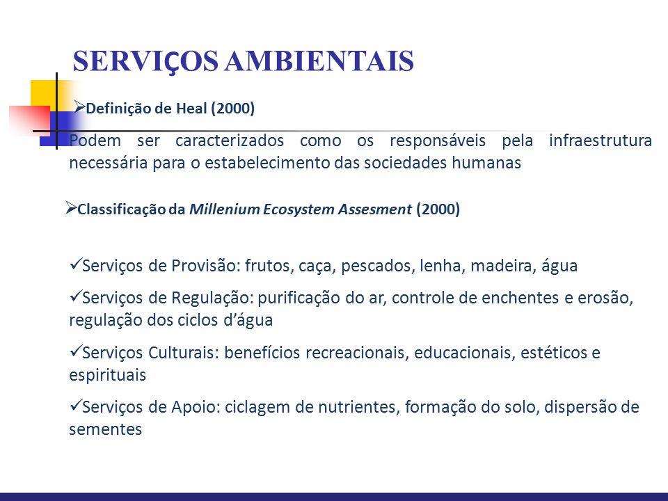 SERVIÇOS AMBIENTAIS Definição de Heal (2000)