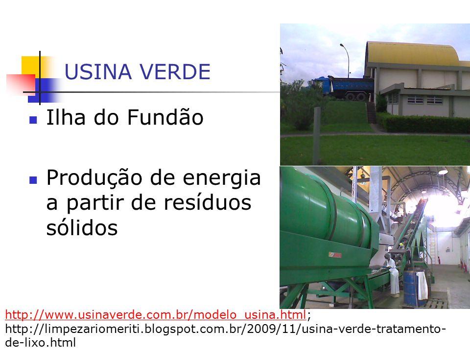 Produção de energia a partir de resíduos sólidos