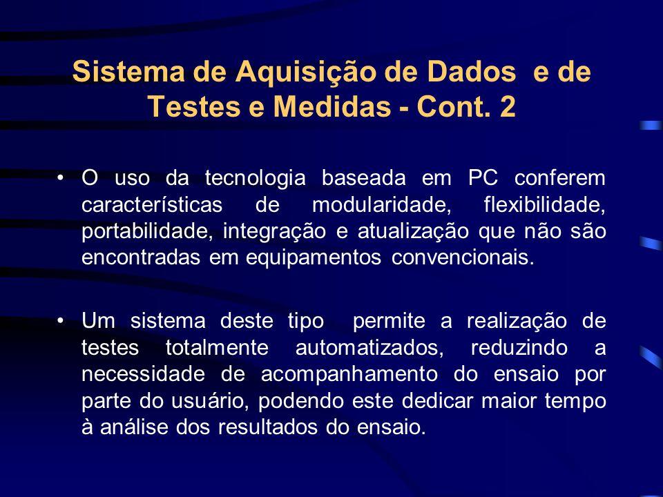 Sistema de Aquisição de Dados e de Testes e Medidas - Cont. 2