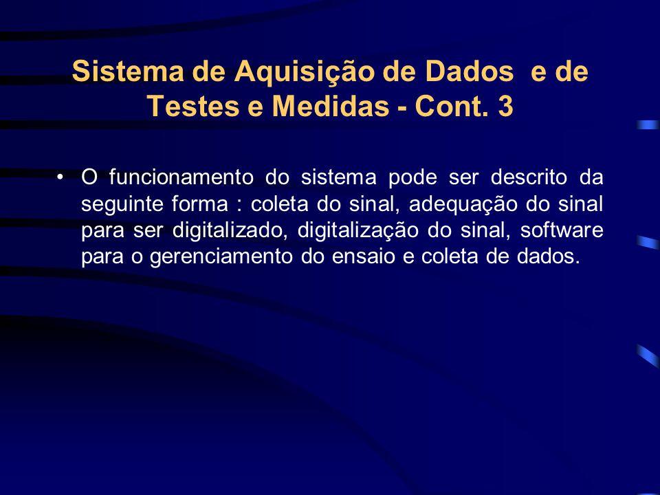 Sistema de Aquisição de Dados e de Testes e Medidas - Cont. 3