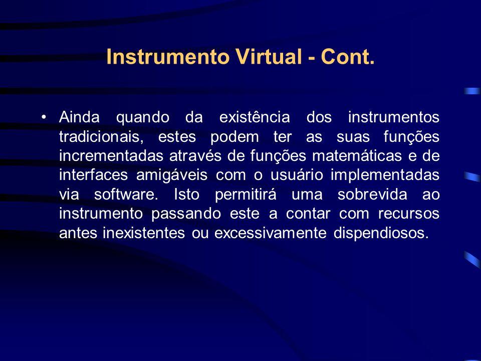 Instrumento Virtual - Cont.