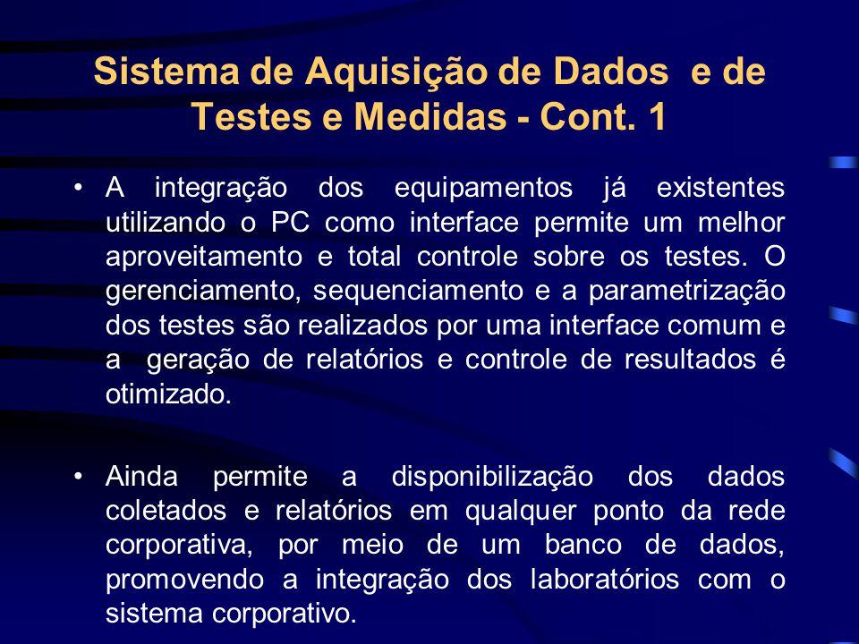Sistema de Aquisição de Dados e de Testes e Medidas - Cont. 1