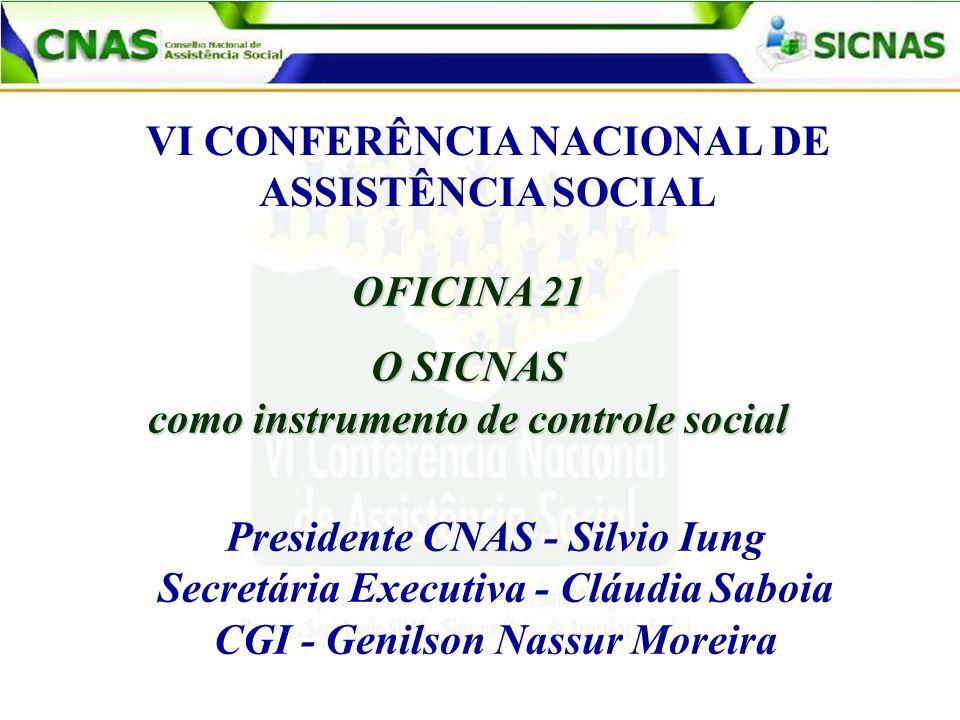 VI CONFERÊNCIA NACIONAL DE ASSISTÊNCIA SOCIAL