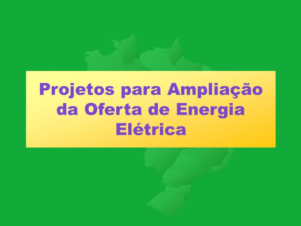 Projetos para Ampliação da Oferta de Energia Elétrica
