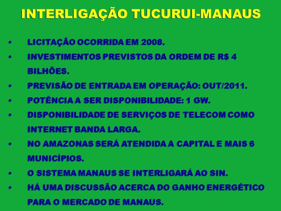 INTERLIGAÇÃO TUCURUI-MANAUS