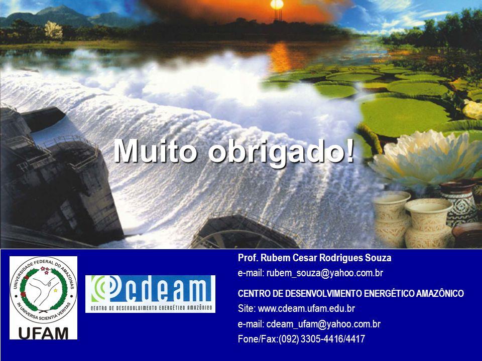 Muito obrigado! Prof. Rubem Cesar Rodrigues Souza