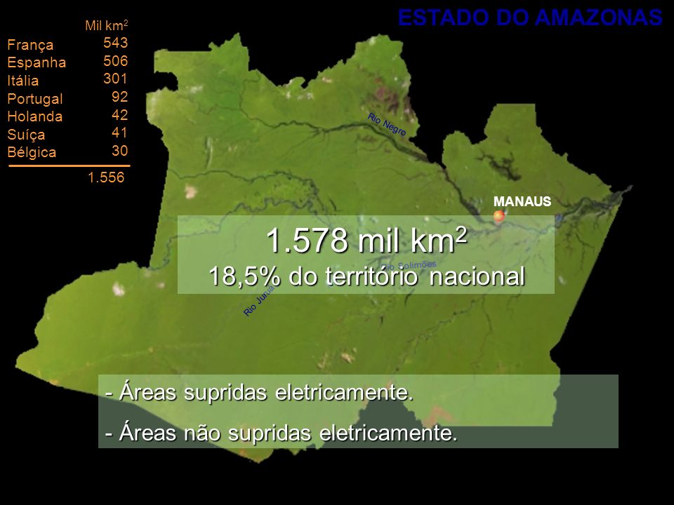 1.578 mil km2 18,5% do território nacional