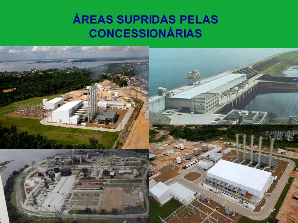 ÁREAS SUPRIDAS PELAS CONCESSIONÁRIAS