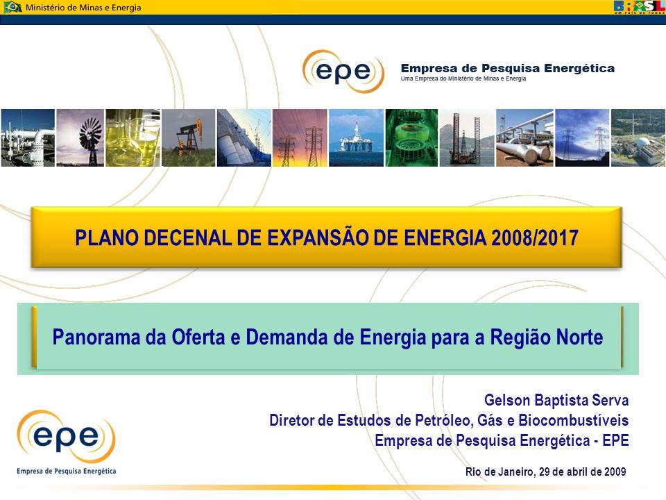 PLANO DECENAL DE EXPANSÃO DE ENERGIA 2008/2017