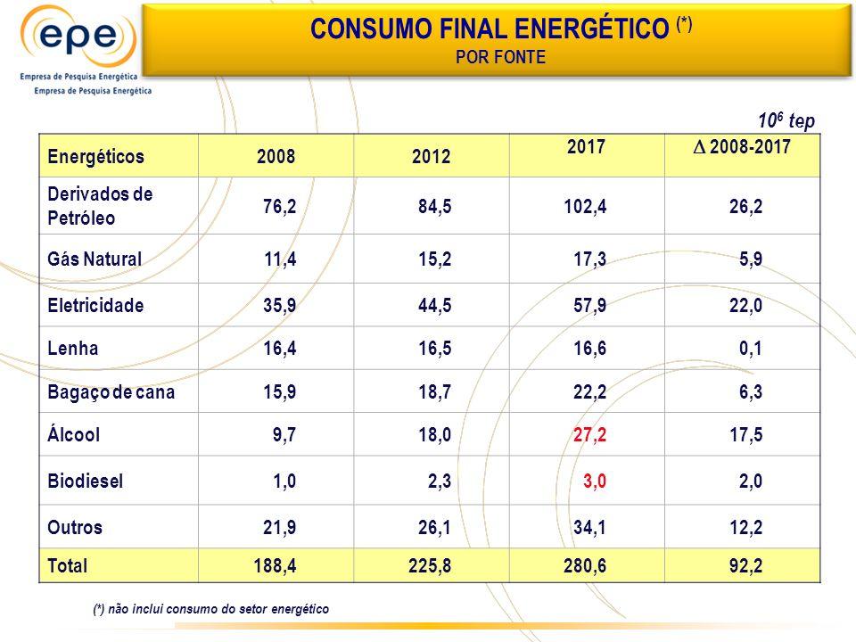 CONSUMO FINAL ENERGÉTICO (*)