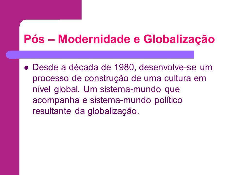 Pós – Modernidade e Globalização