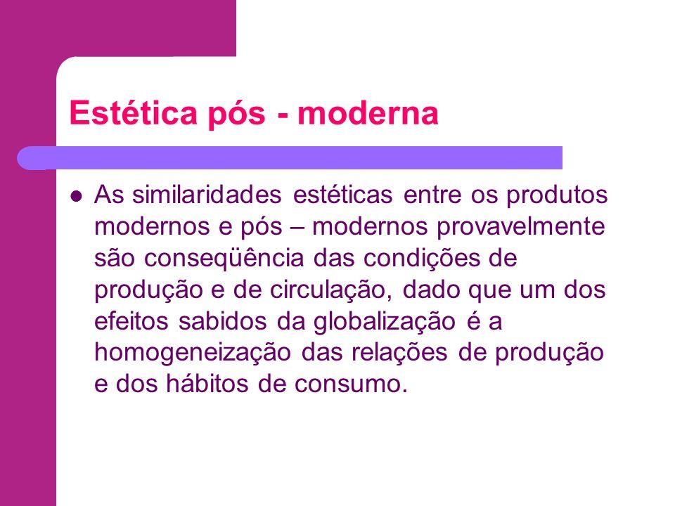 Estética pós - moderna