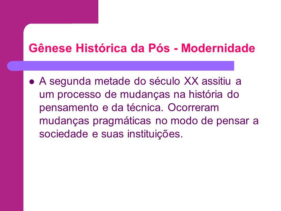 Gênese Histórica da Pós - Modernidade