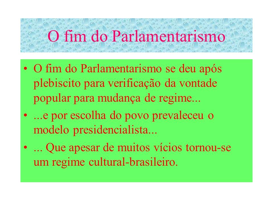 O fim do Parlamentarismo