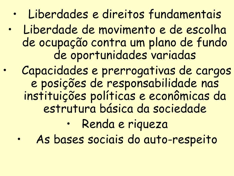 Liberdades e direitos fundamentais