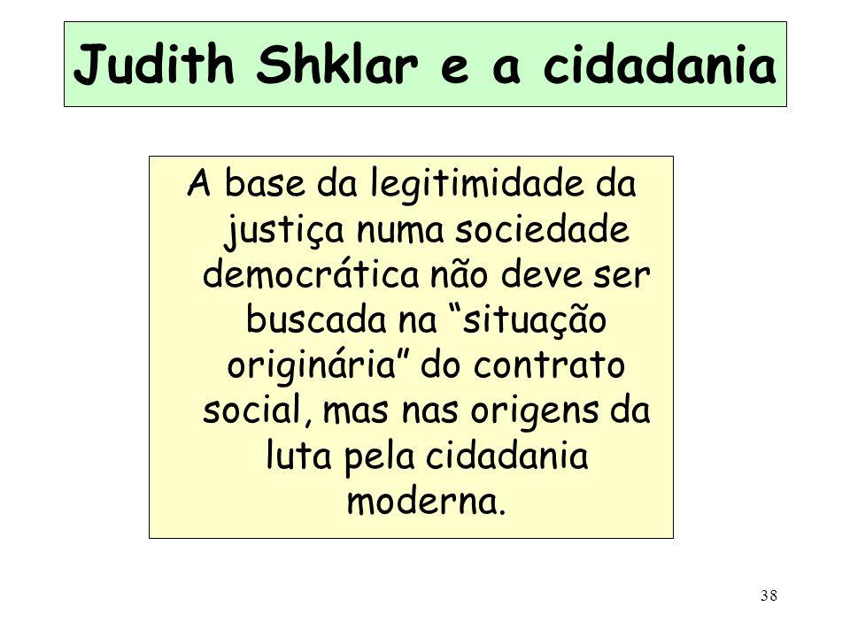 Judith Shklar e a cidadania